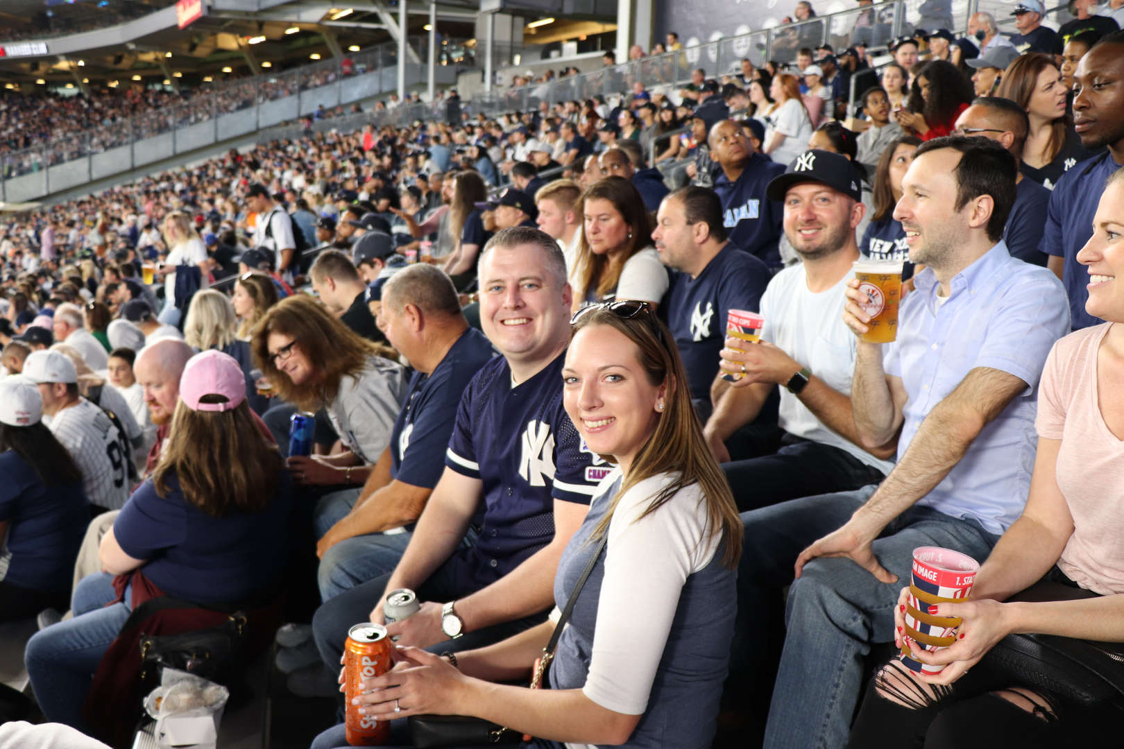 PS 152 staff at the New York Yankees game.