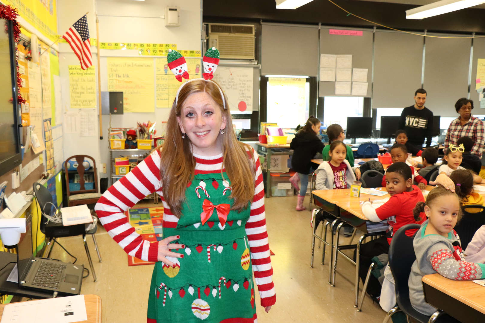 Ms. Kinney a First Grade teacher.