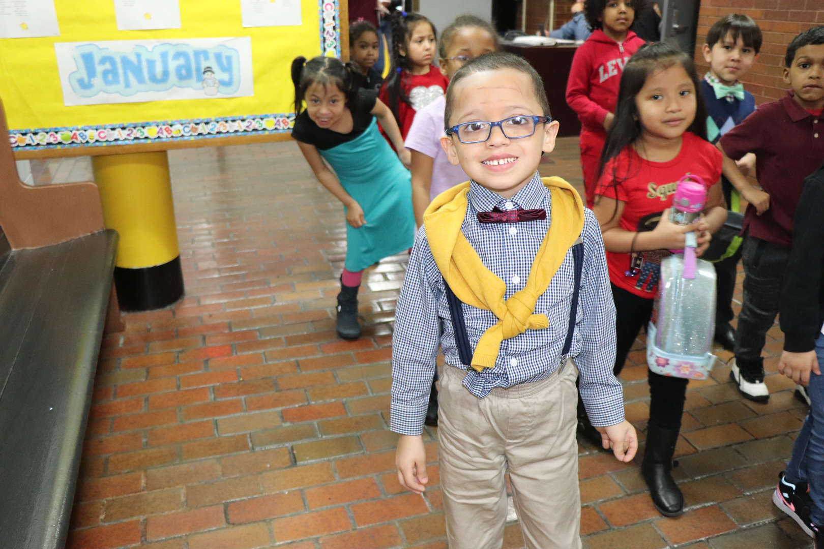 First graders dressed like they are 100.
