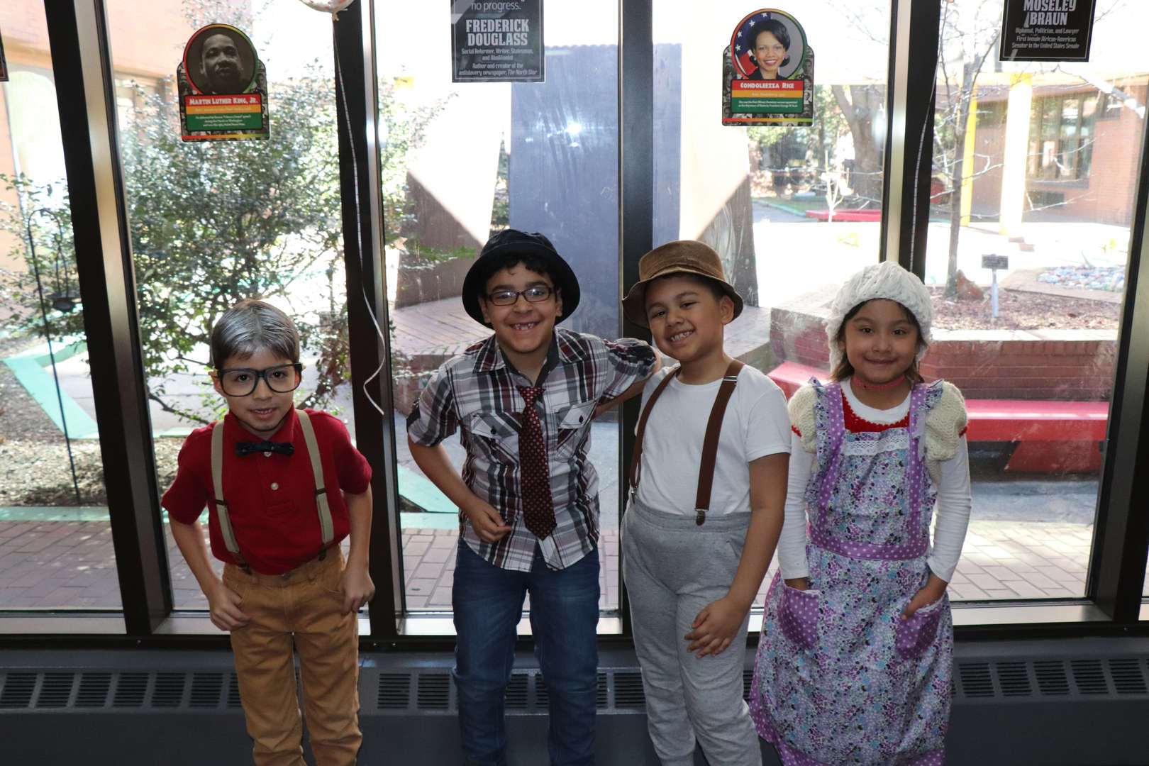 Students showing off their 100 day outfits.
