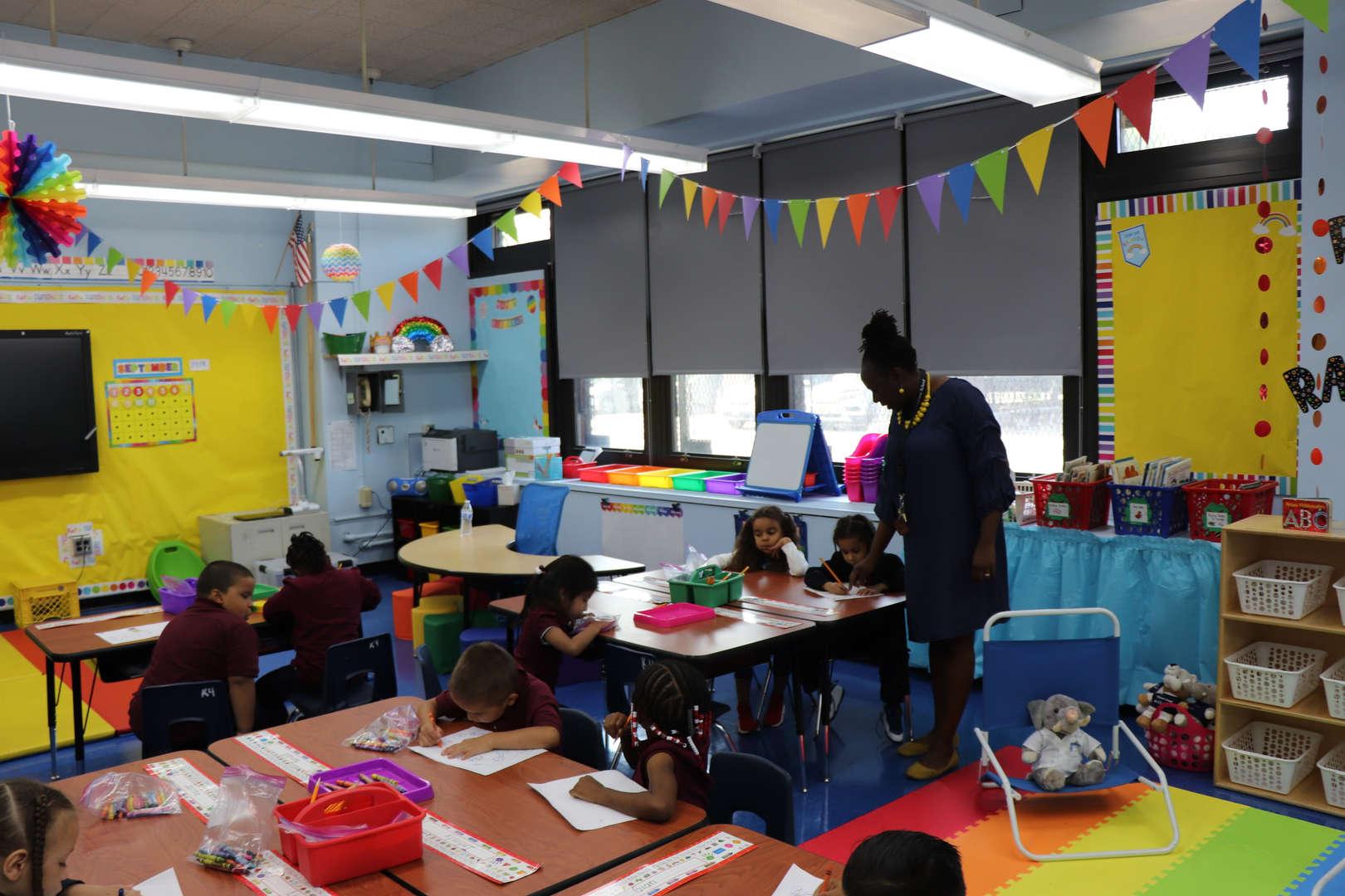 Ms. Oliver's kindergarten class.