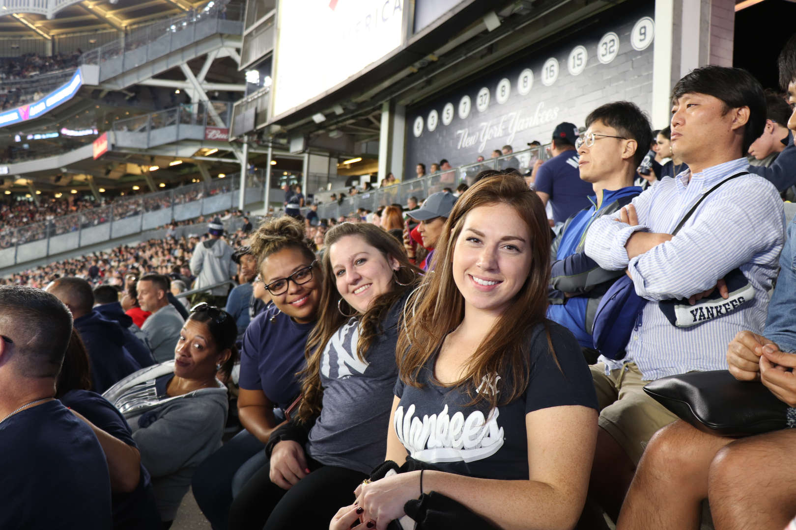 Some of the teachers at the Yankee game.