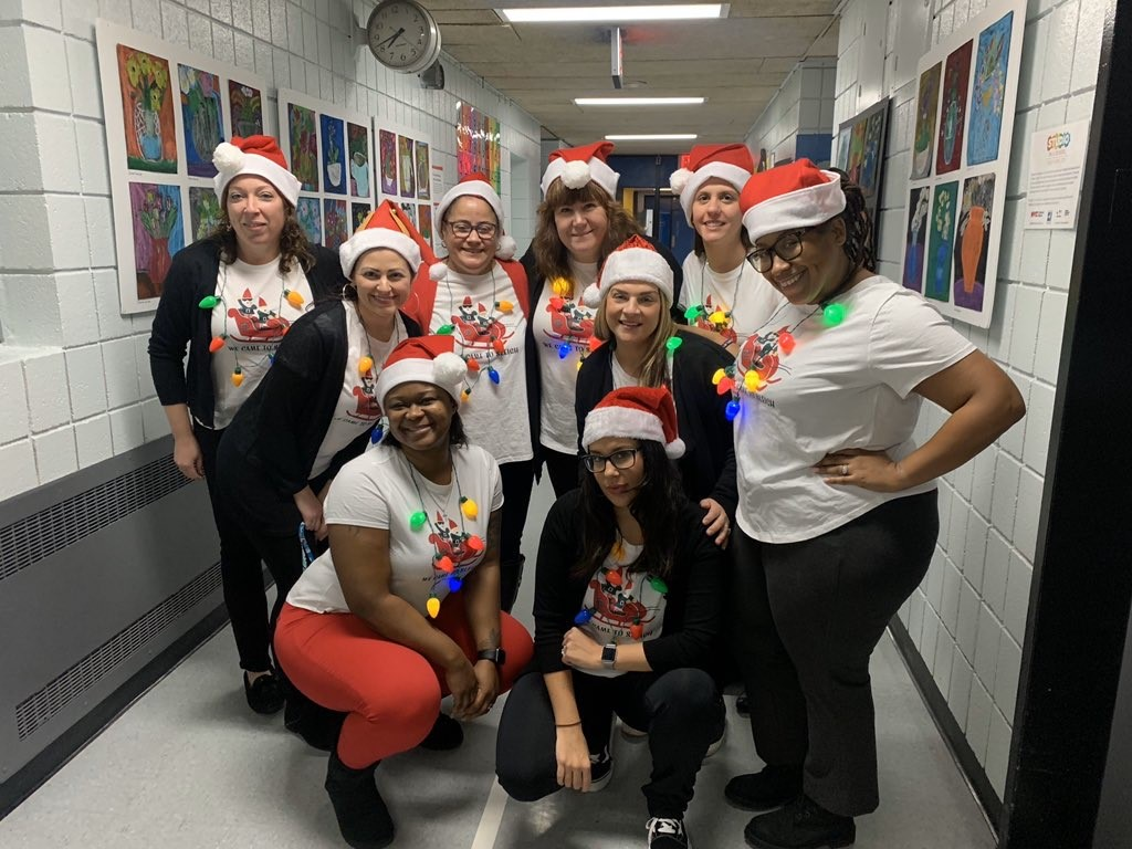 The Fifth grade team being festive.