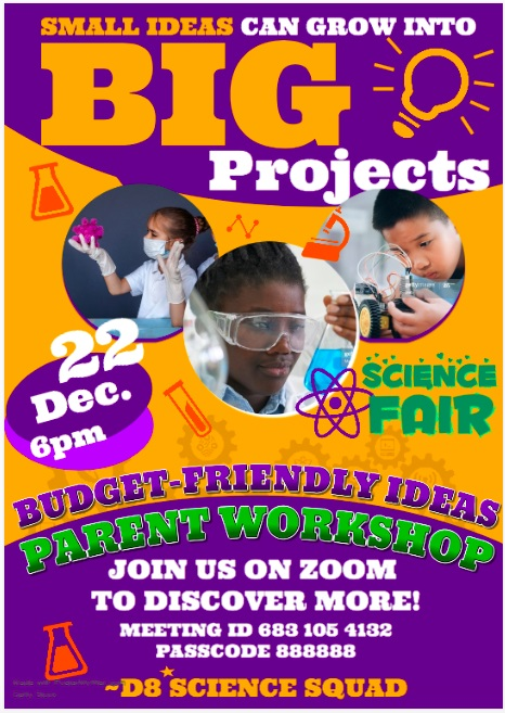 District 8 Science Fair Budget Friendly Information Session