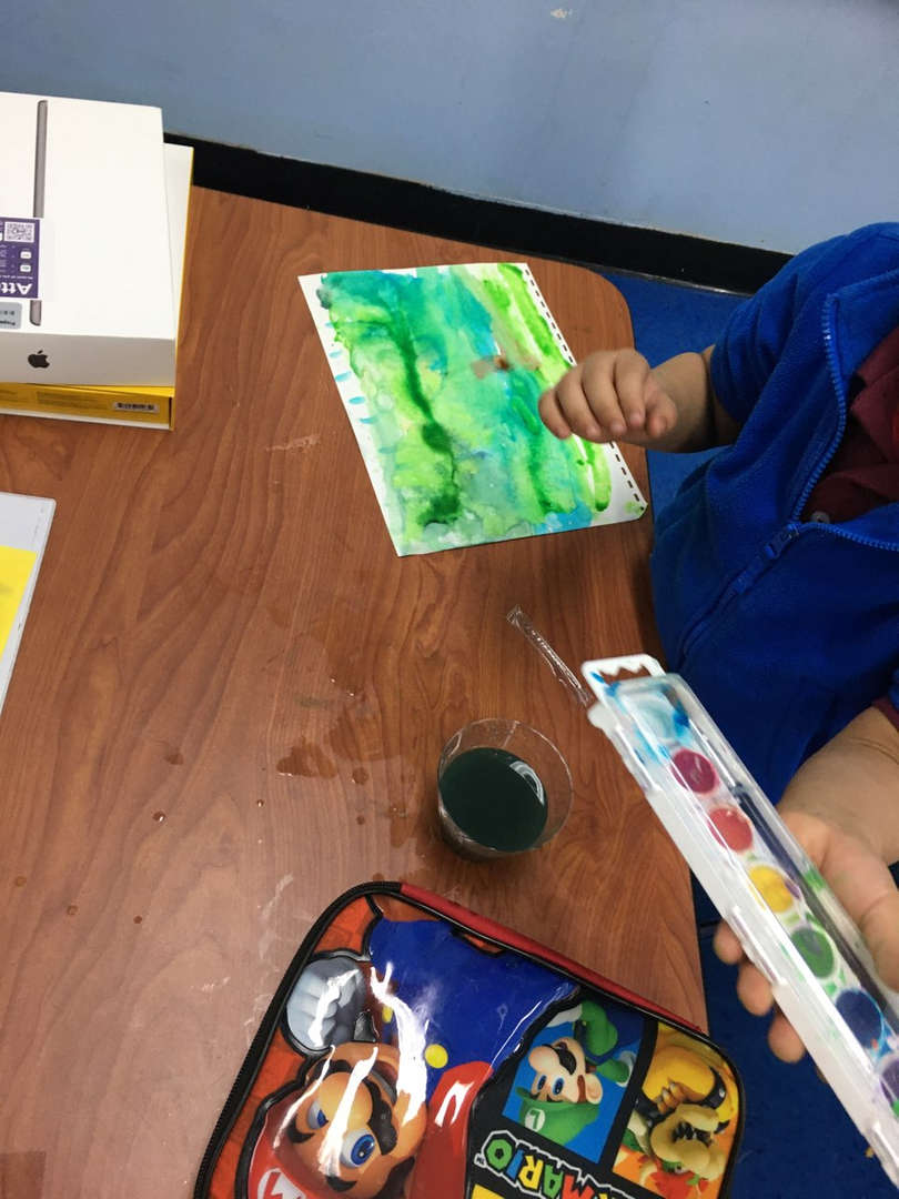 green grass painting for earth day