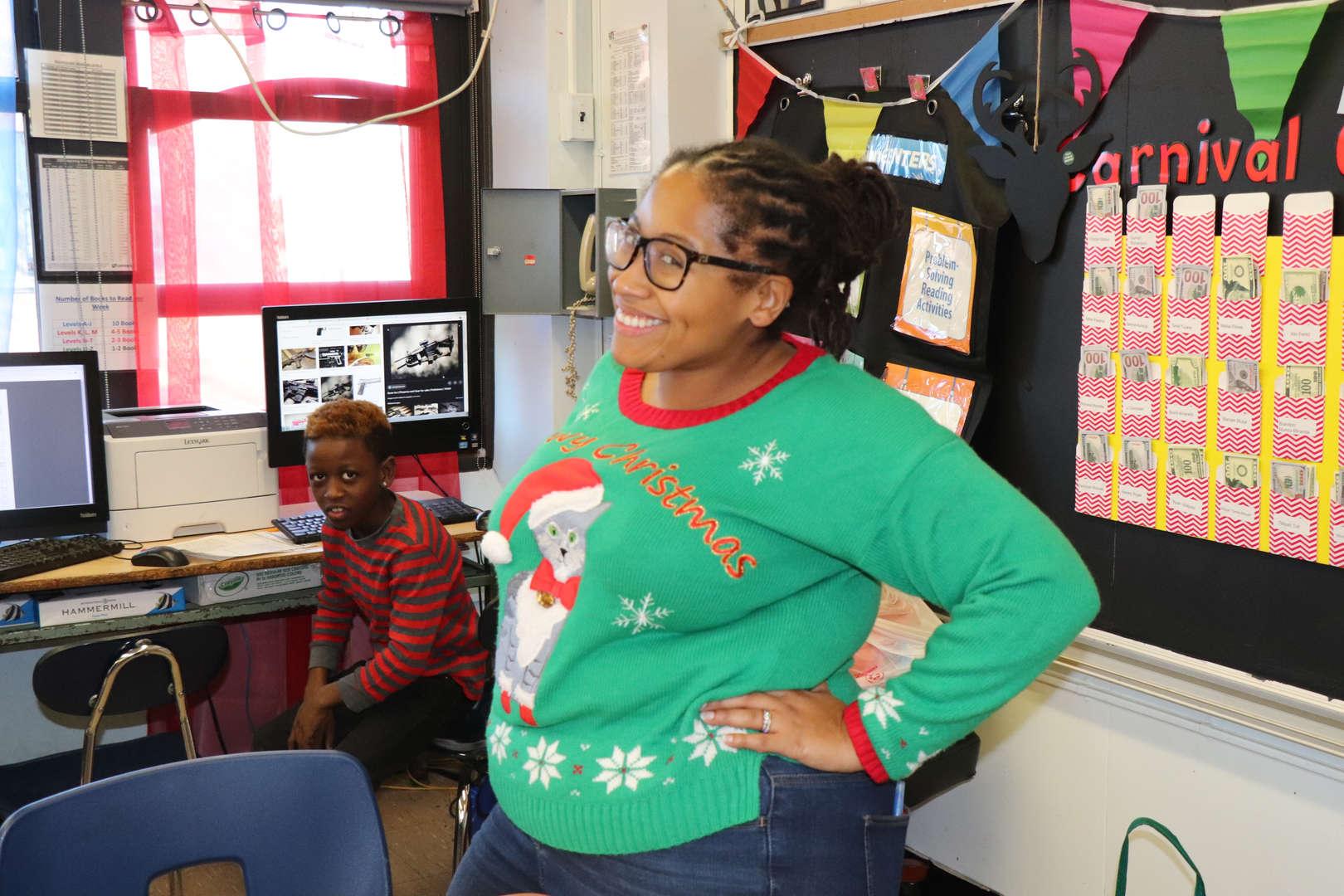 Mrs. Watkins a Fifth Grade Teacher.