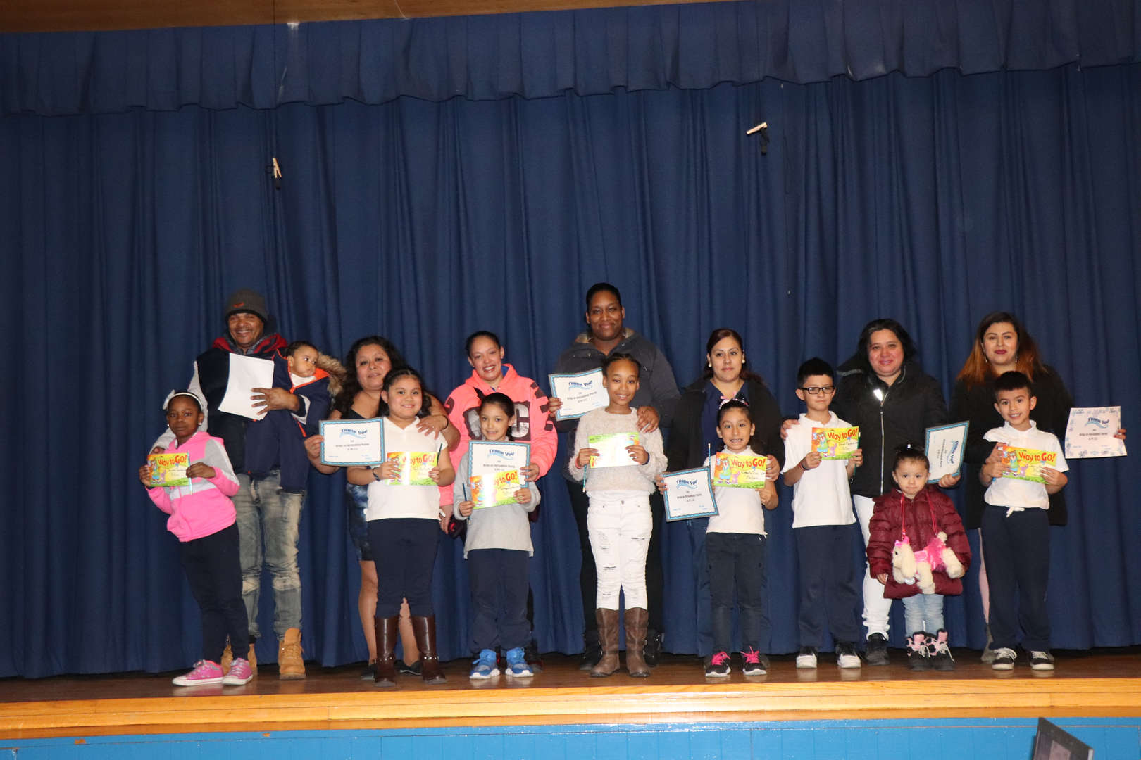 Second Grade Parents with their children who are students of the month.