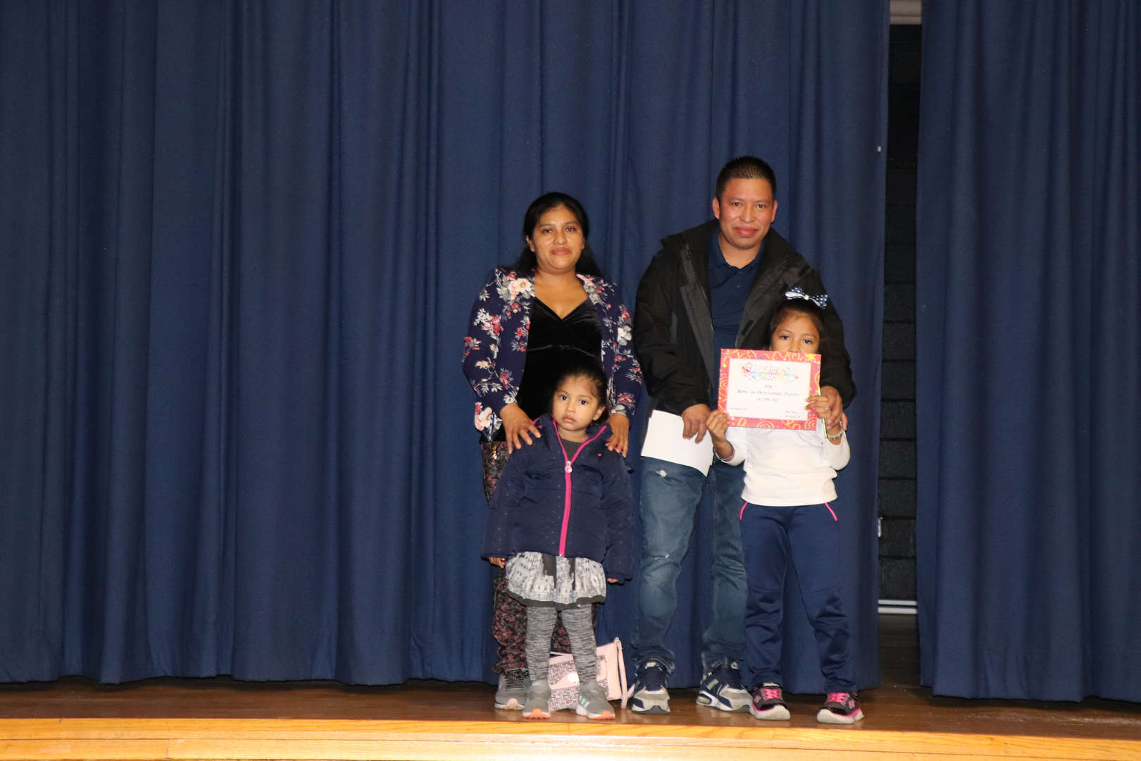 First Grade Parents with their students of the month.