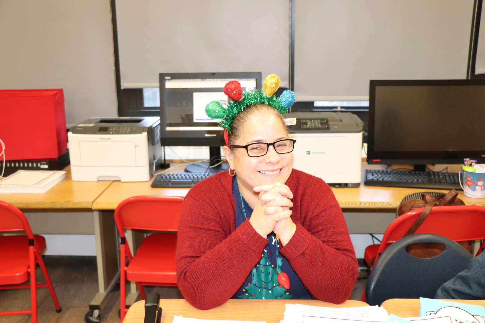 Mrs. Ortiz a Fifth Grade Teacher.