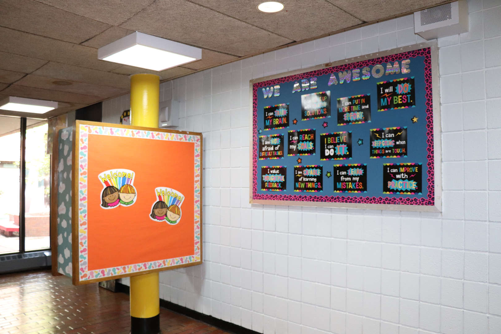 One of the bulletin boards in the main lobby.