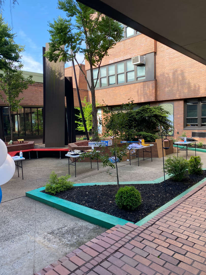 Courtyard, where students come to enjoy the fresh air