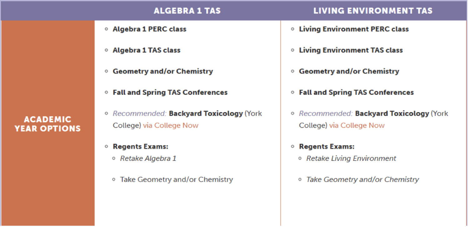 current program for our TAS