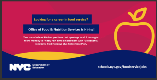 Job Opportunity in Food Services