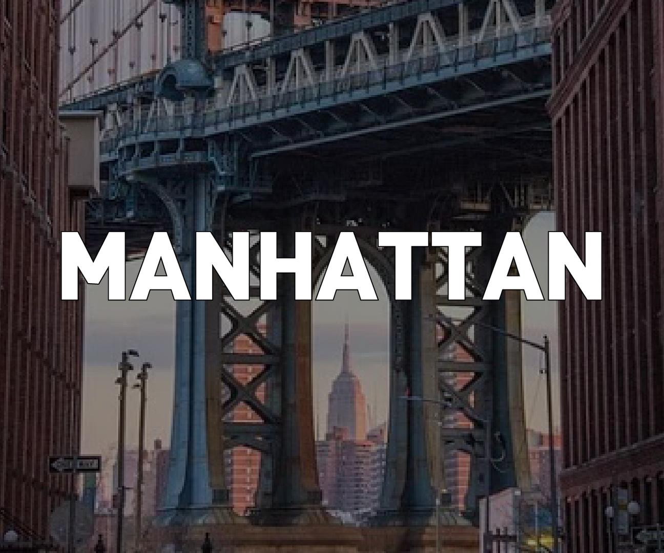 View of Manhattan through Bridge