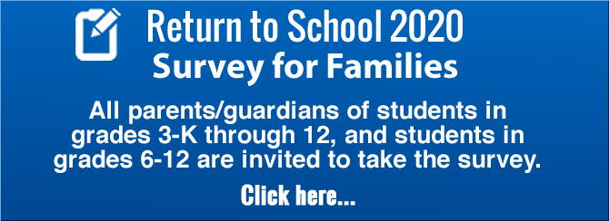 Return to School 2020 Survey for Families