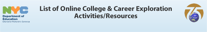 List of Online College & Career Exploration Activities/Resources
