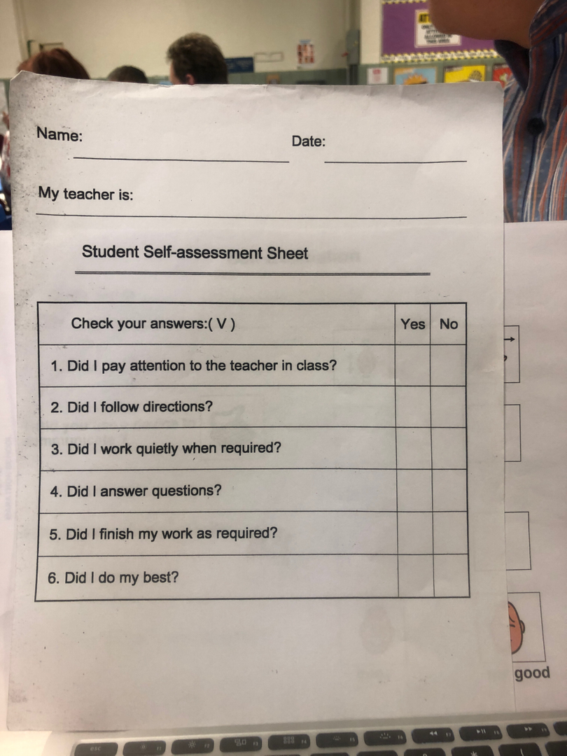 Classroom Lesson Self-Assessment