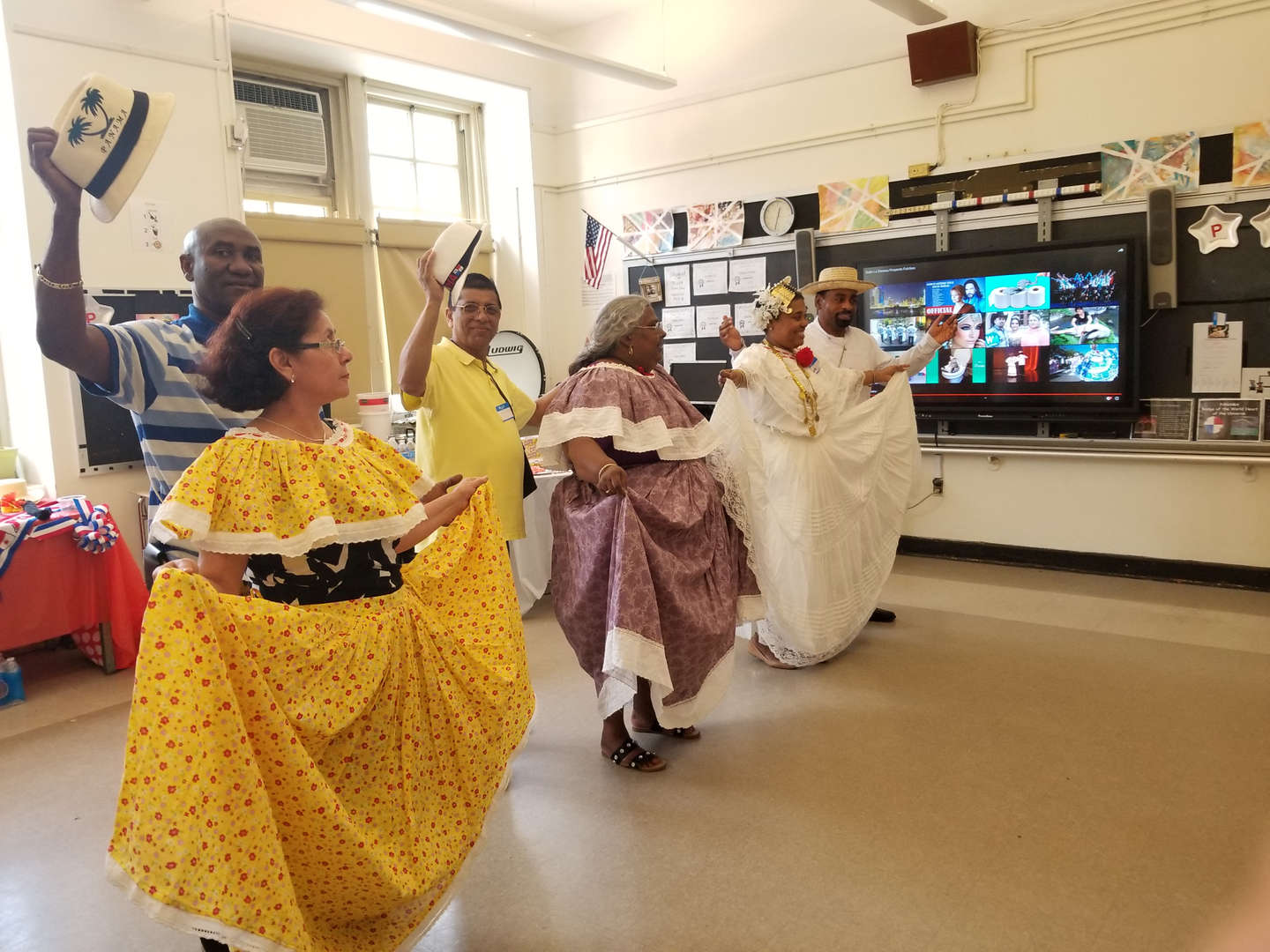 Staff dressed for a Panamanian Dance