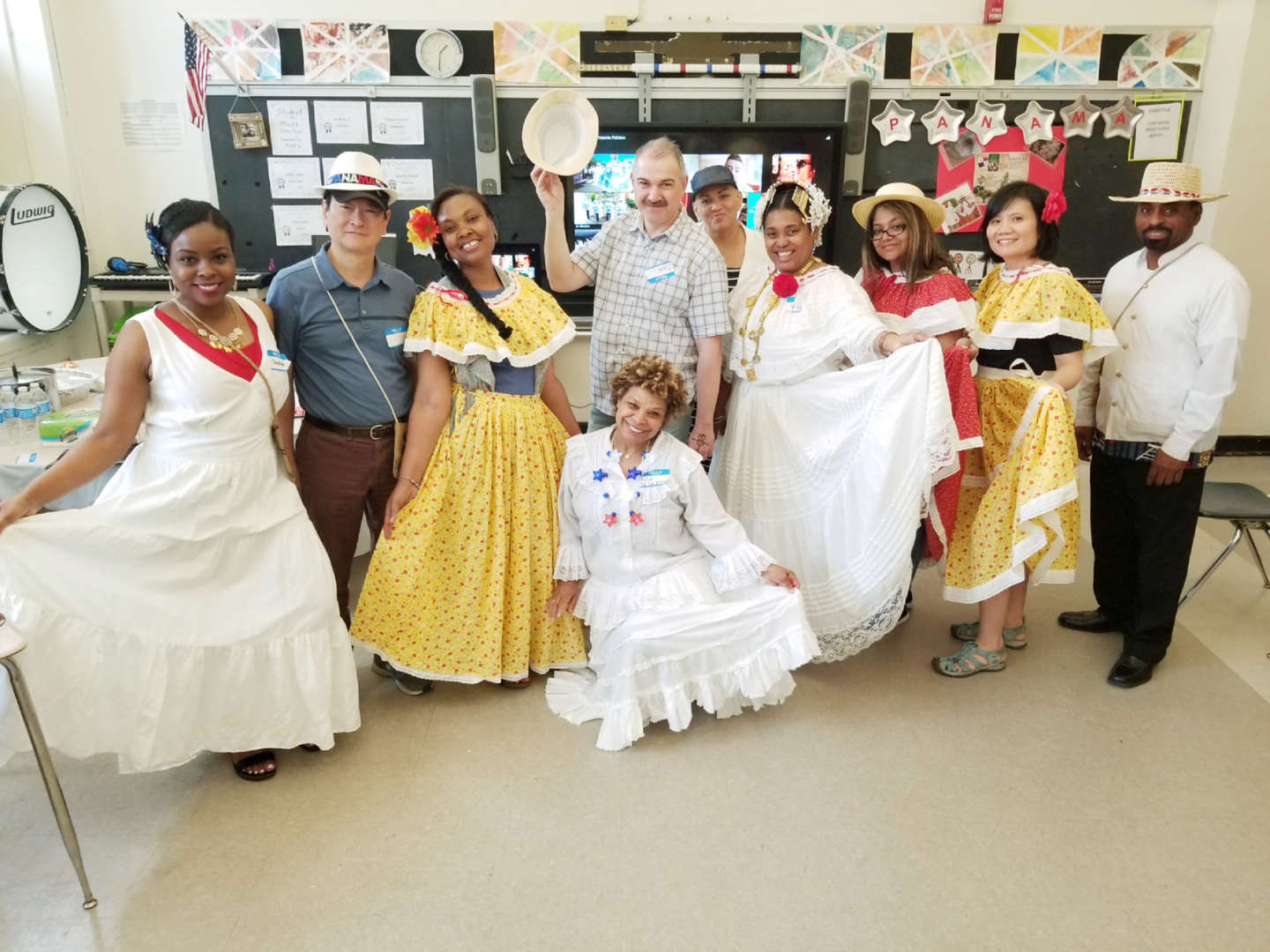 Staff Members dressed for multicultural PD day