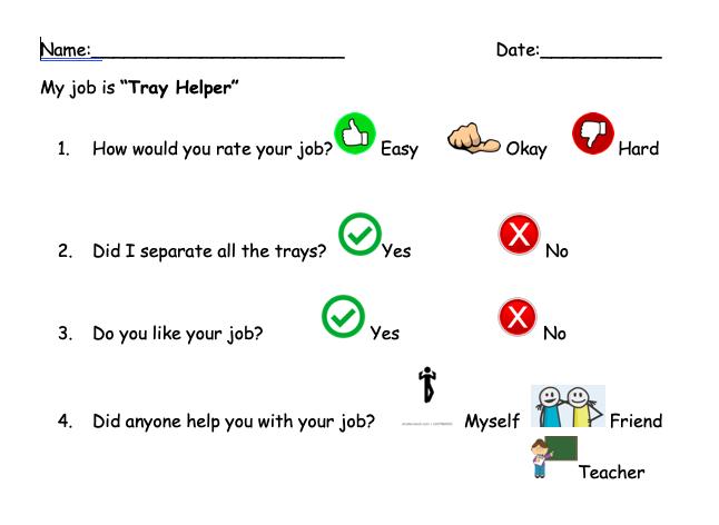 Tray Helper Self-Assessment