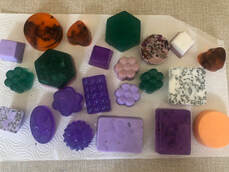 Handmade soaps of different shapes and colors