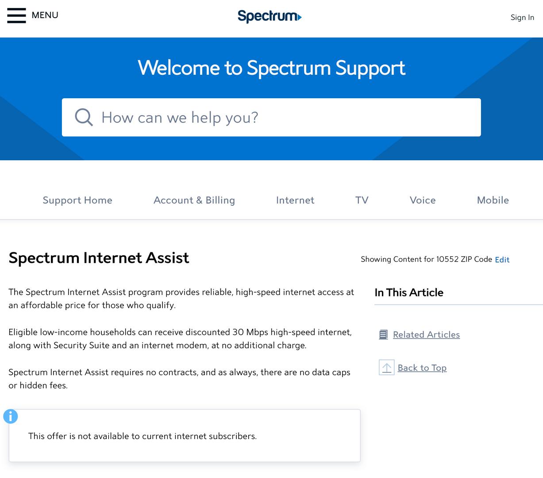 Spectrum internet plans for families