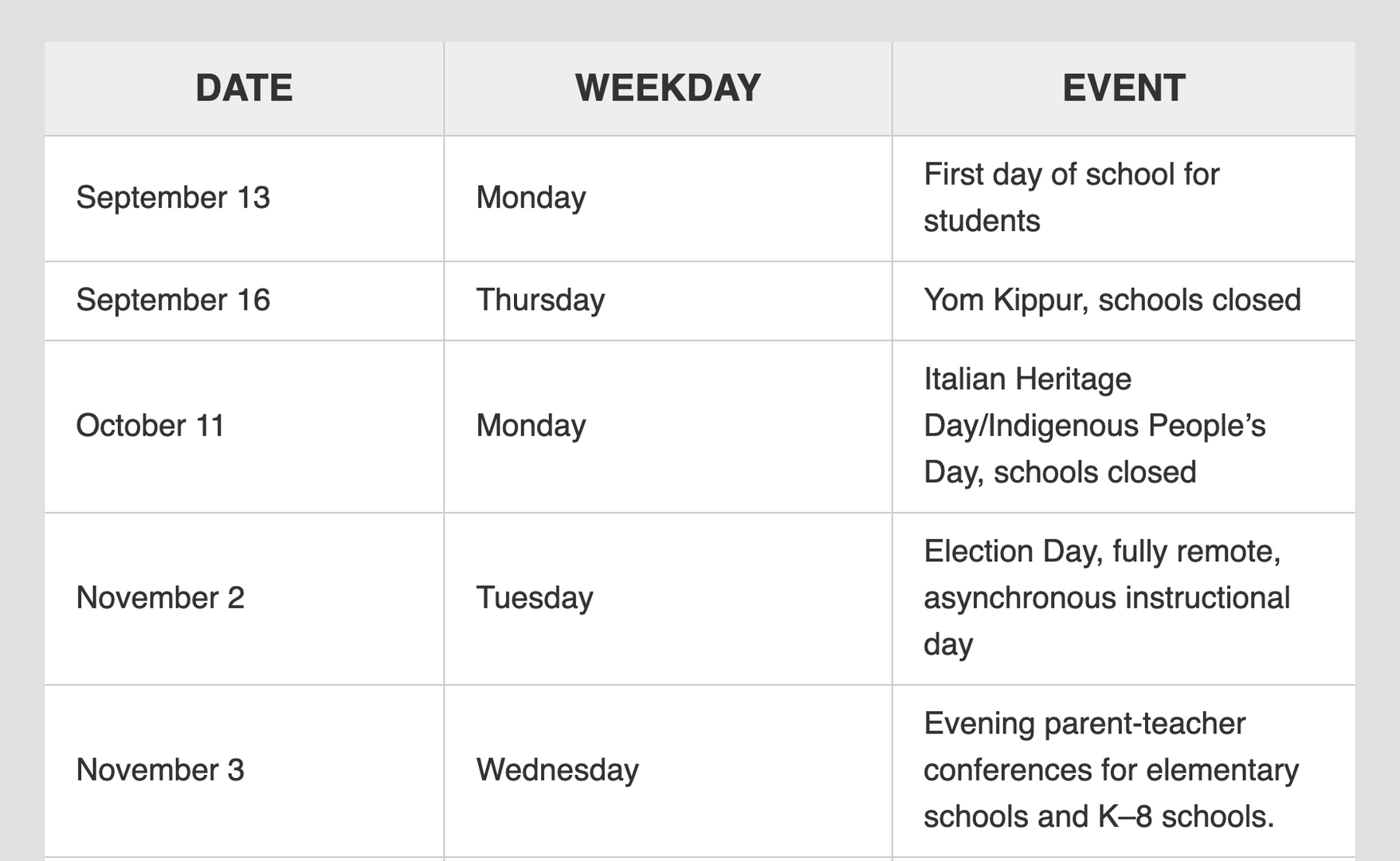 2021-2022 DOE School Calendar