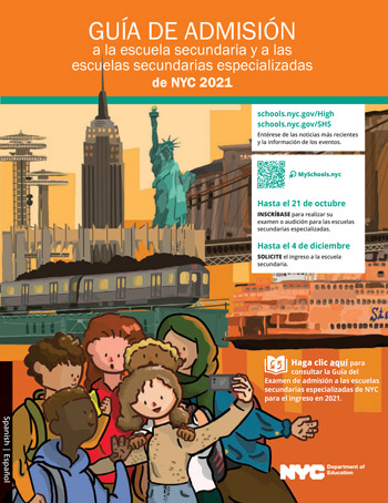 DOE NYC Admissions guide spanish