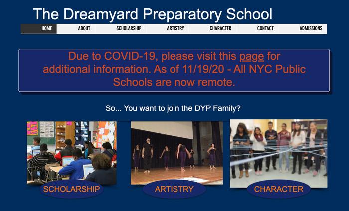 DreamYard Prep admissions