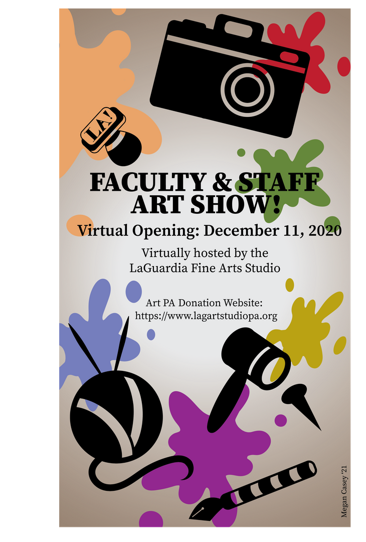 Faculty and Staff Art Show Poster