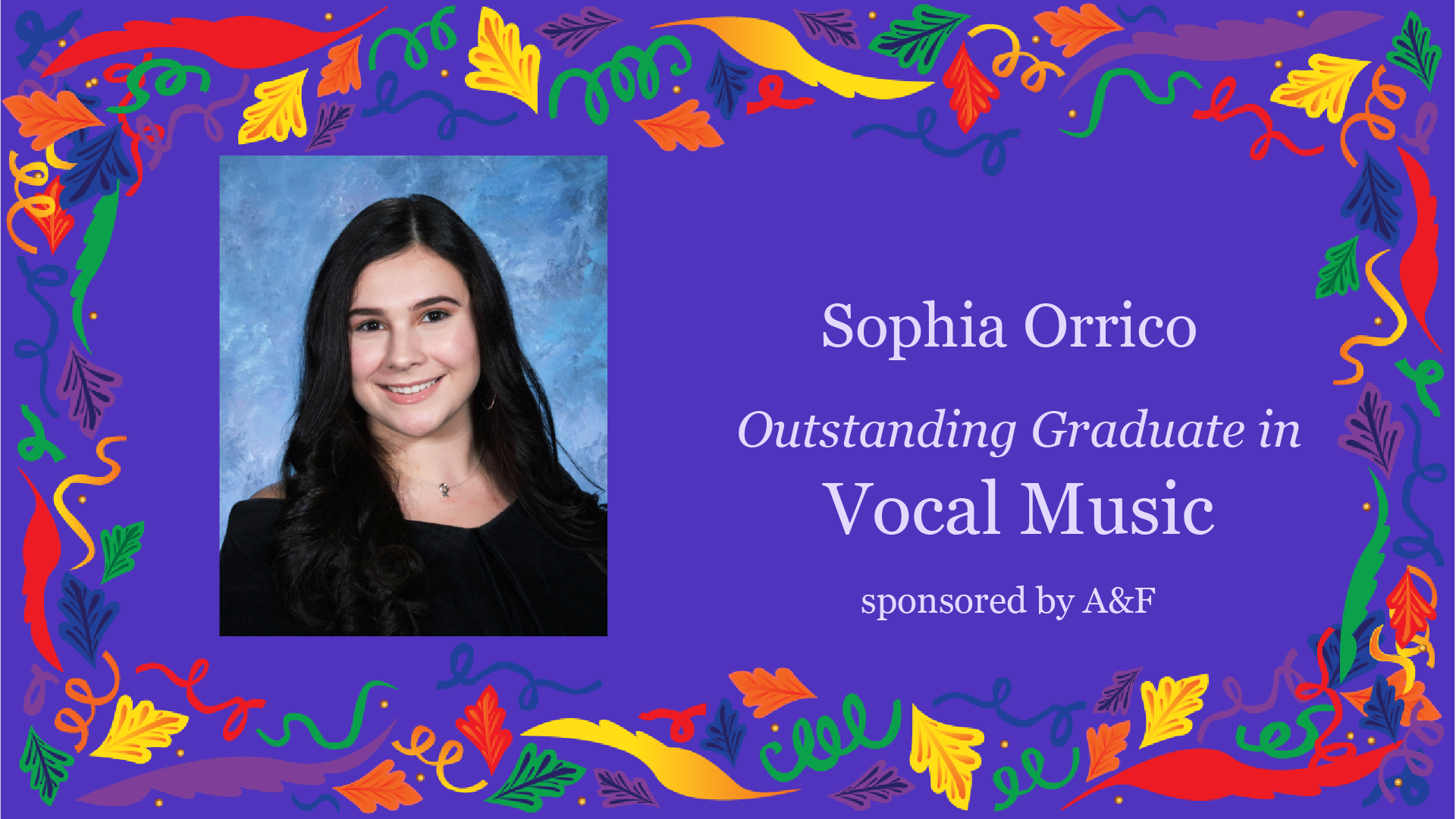 Outstanding Graduate Award in Vocal Music