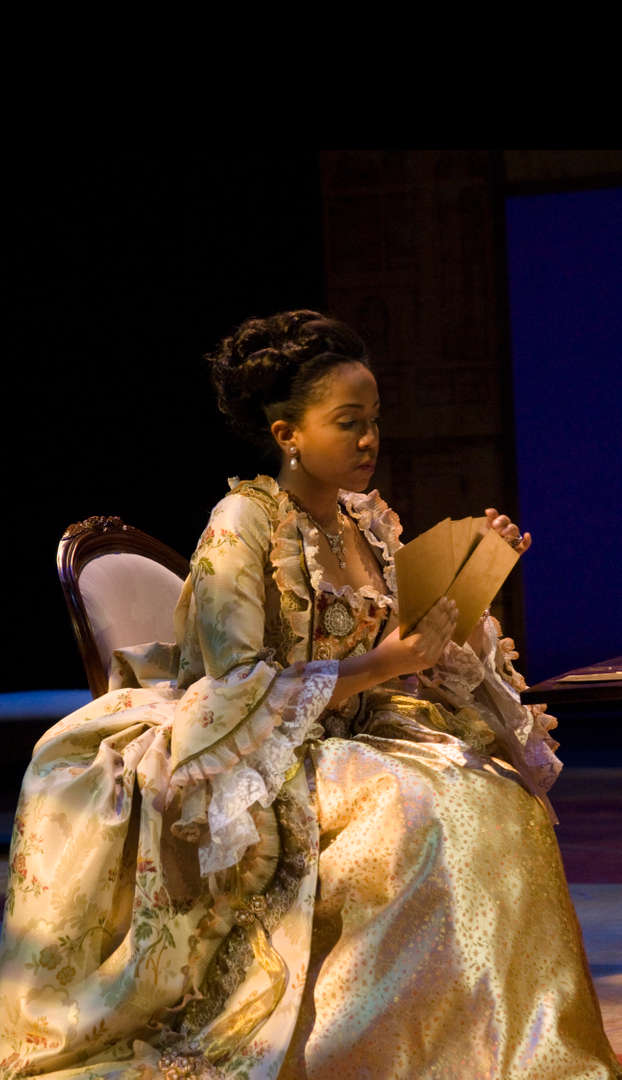 "Actress sitting in play ""Les Liaisons dangereuses"""