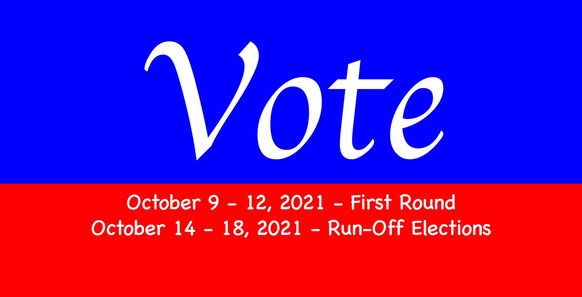 Vote Banner and dates