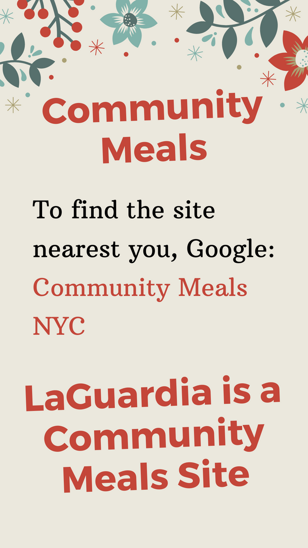 LaGuardia is a Community Meals Site Poster