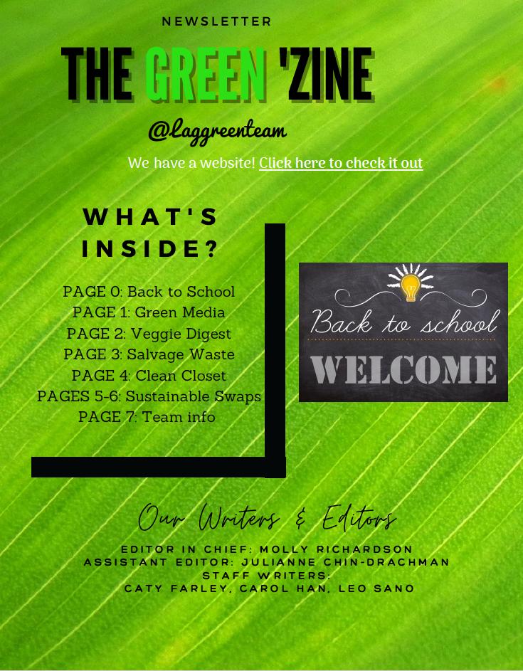 Green'zine Cover Arts