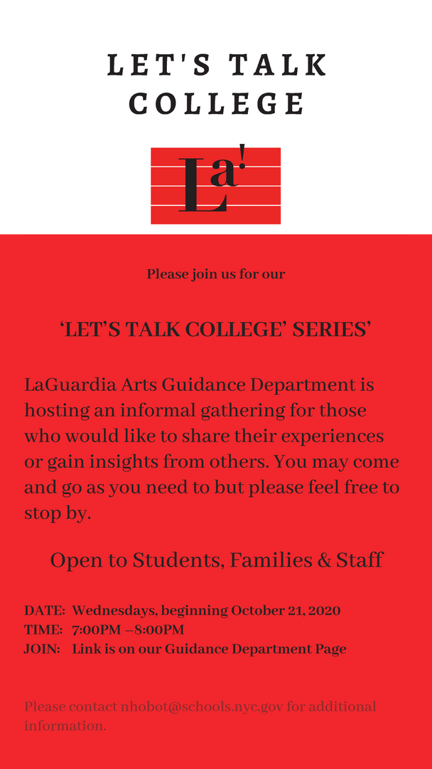 Let's Talk College Series Poster