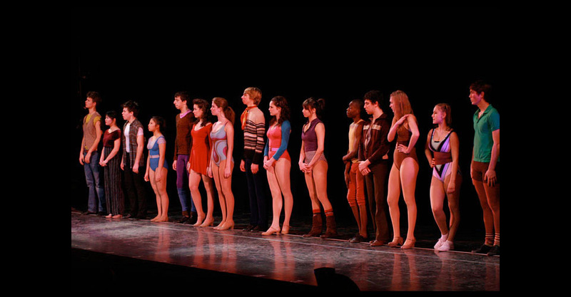 Dancers standing on 'the line'