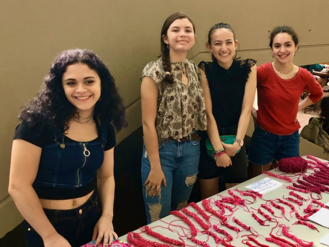 "Four students promoting ""Women's Empowerment"""