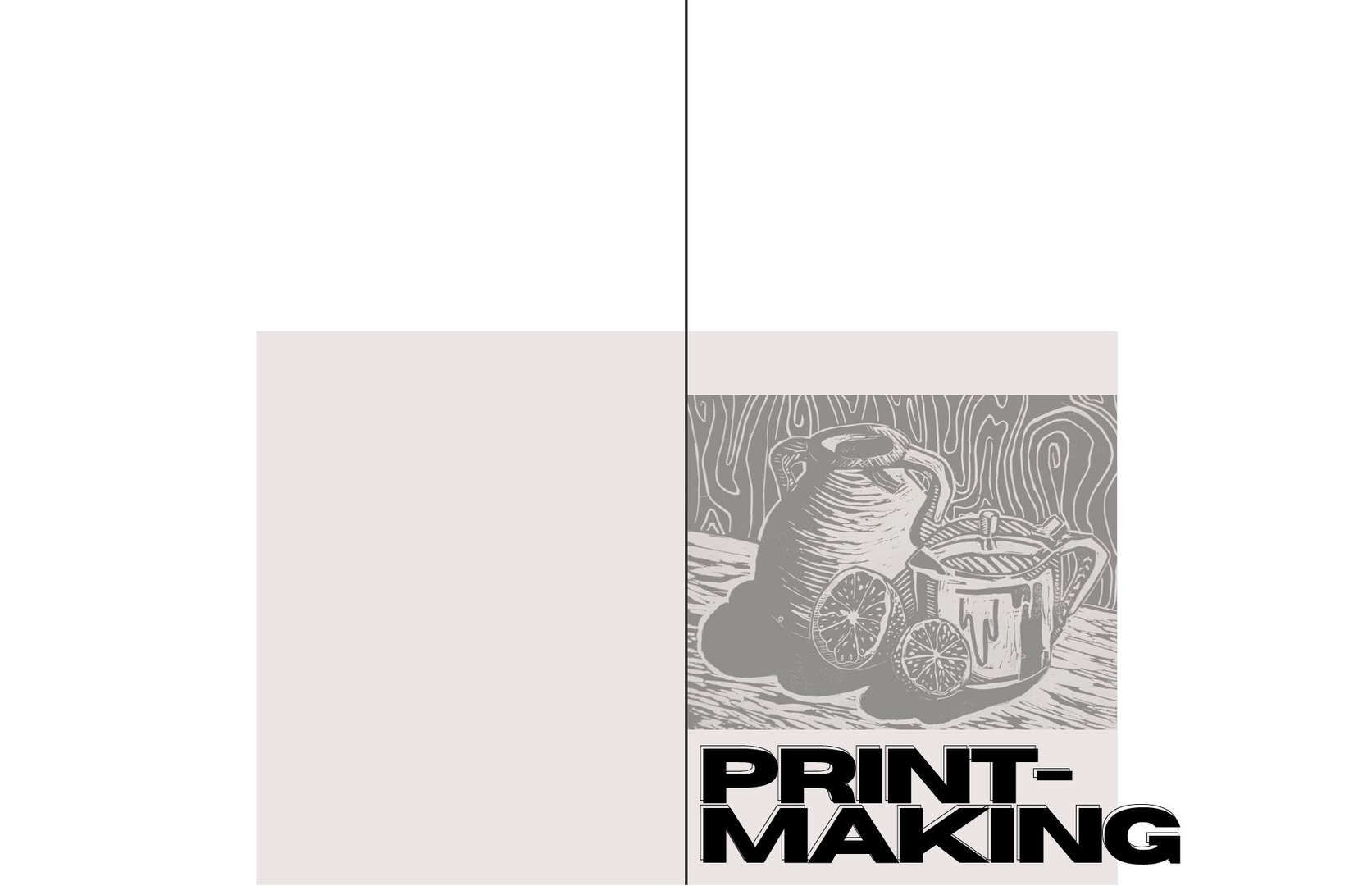 Section Cover for Printmaking