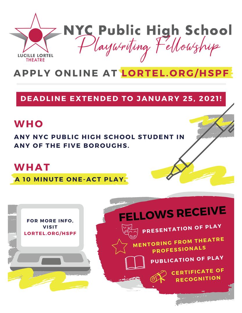 Playwright Fellowship Flier