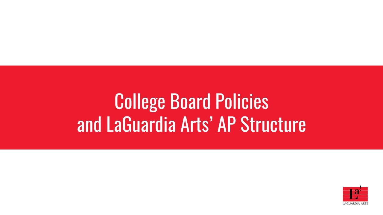 College Board Policy slide