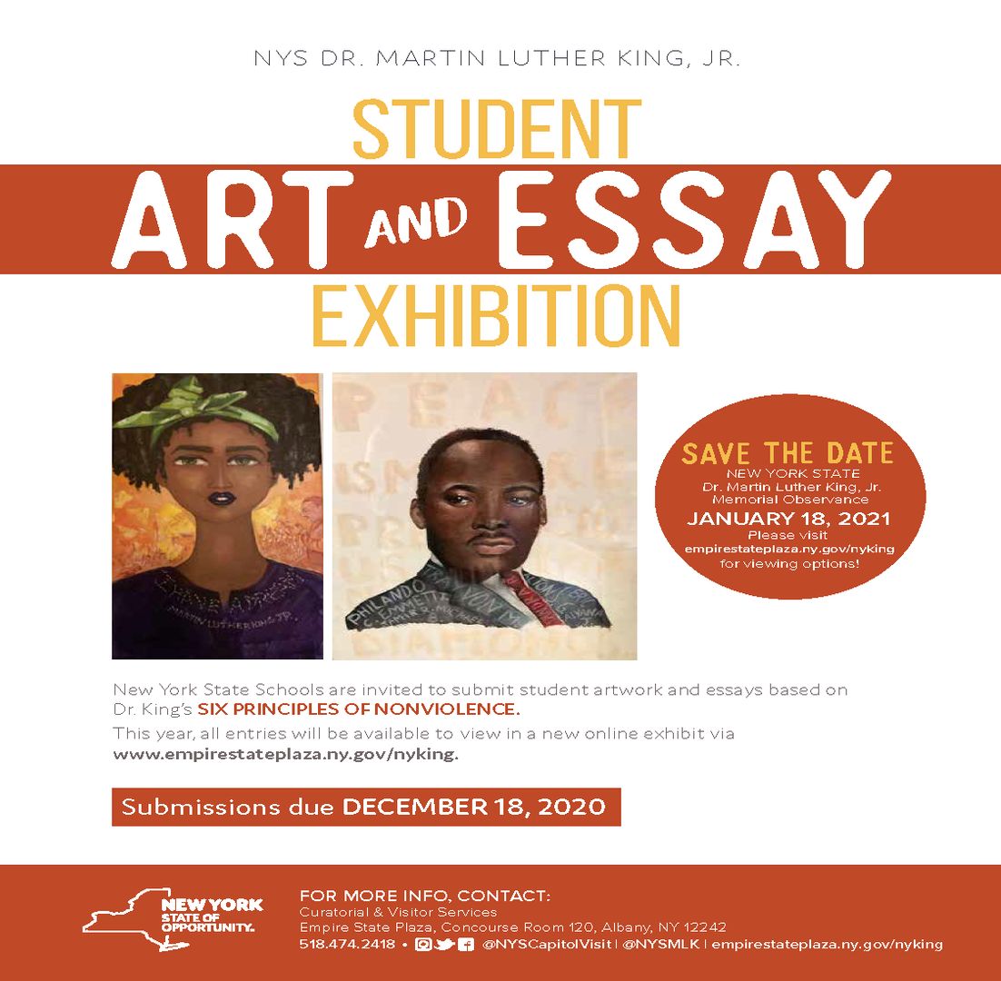 Martin Luther King Art and Essay Exhibition Flier