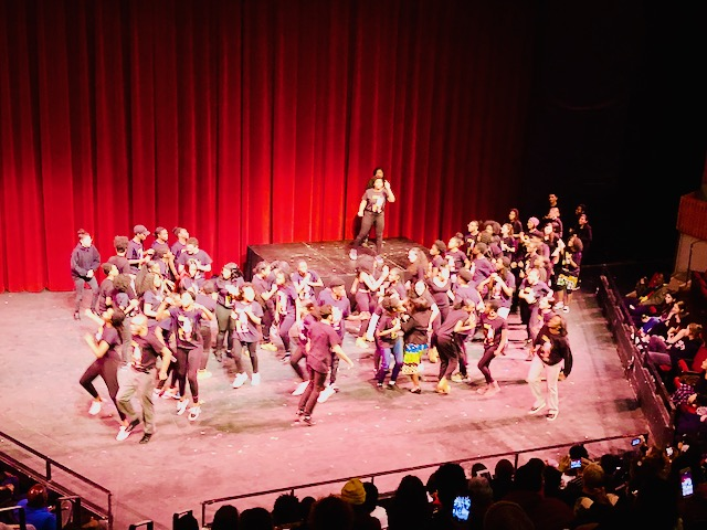 Students dancing in finale