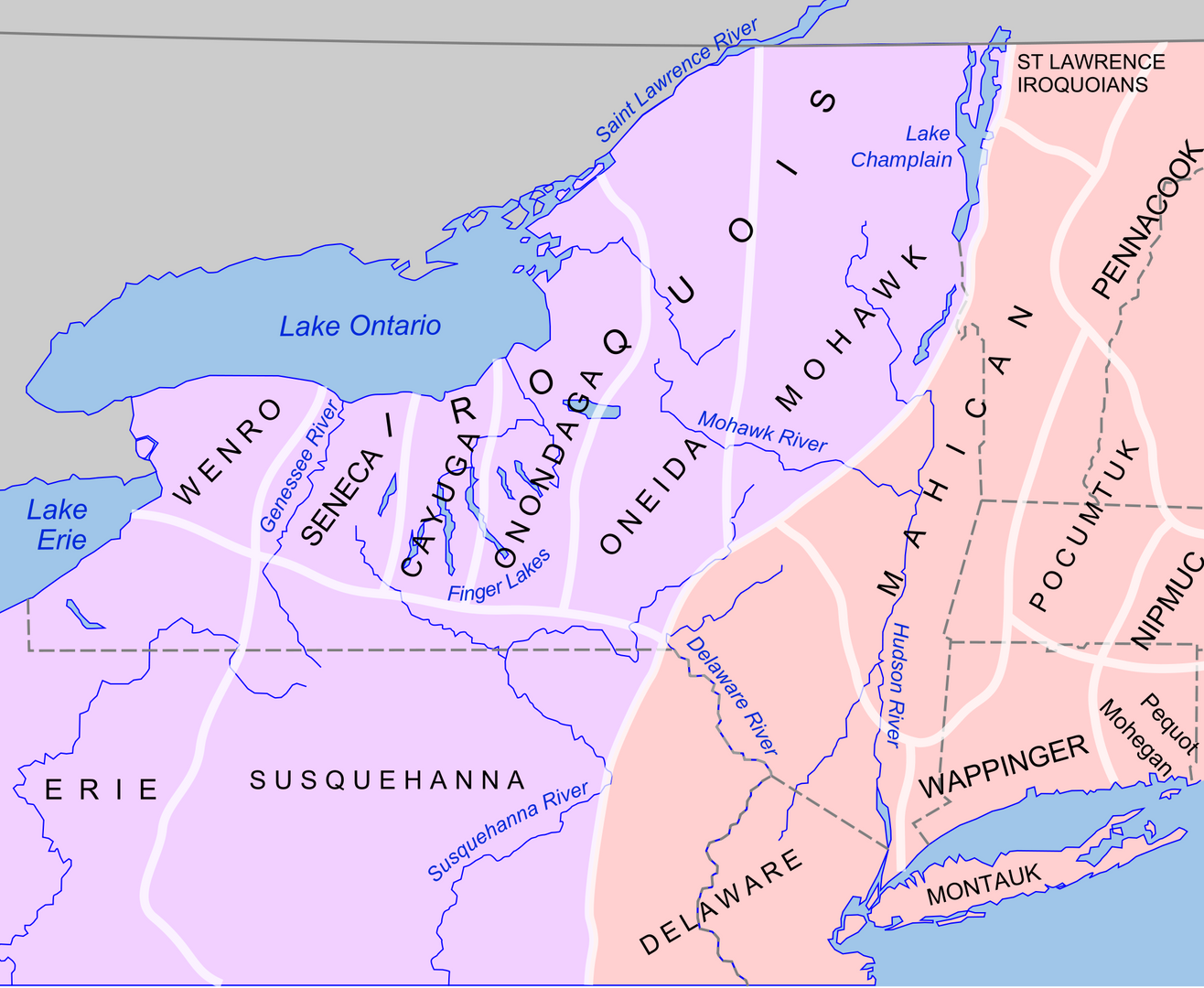 Indigenous American North East Map