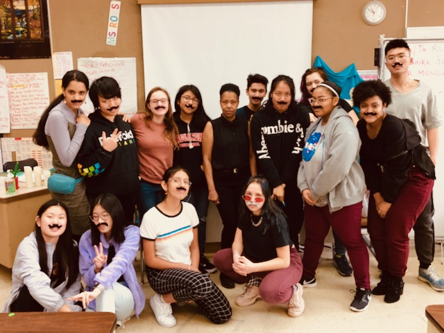 Class participated in MOvember by wearing mustaches