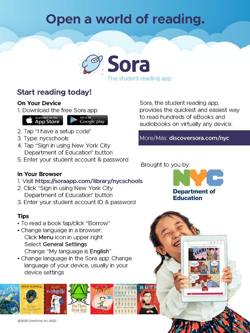 SORA Reading App poster