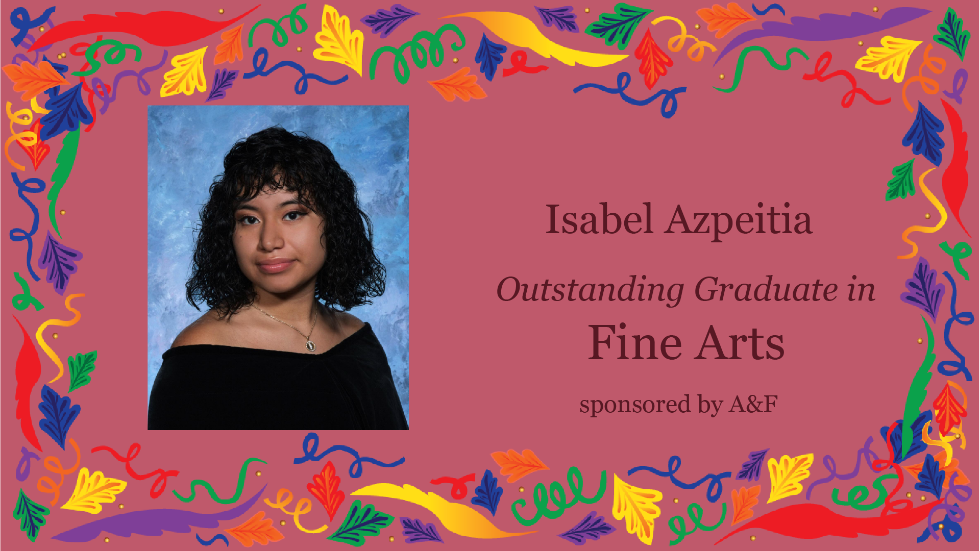 Outstanding Graduate Award in Fine Arts