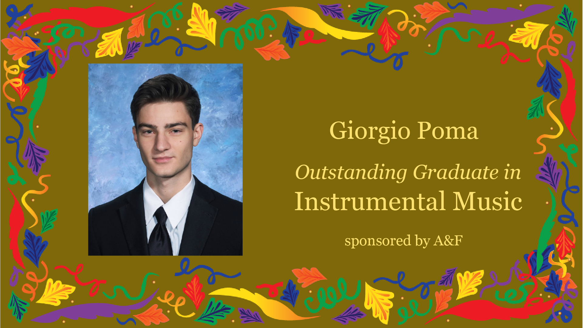 Outstanding Graduate Award in Instrumental Music