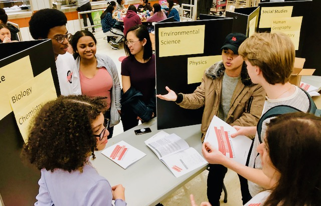 Students at informational fair