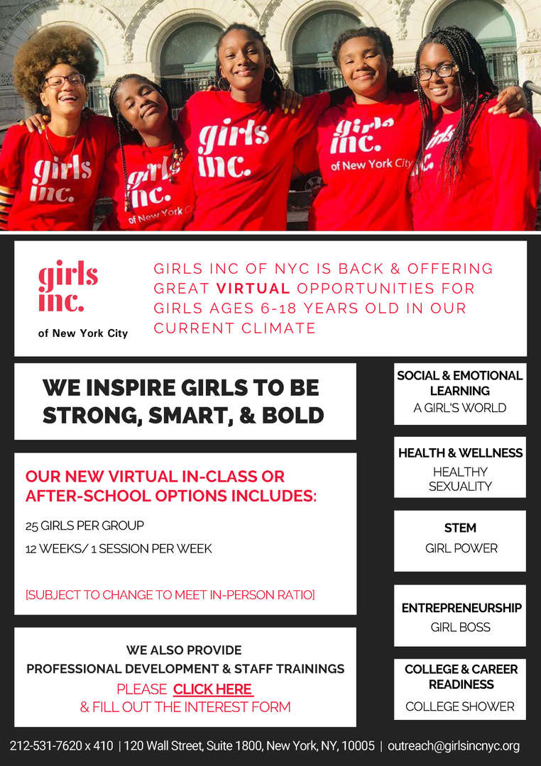Girls Inc. Flier